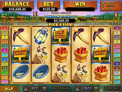 The PayDirt Slot Game Also Offers A Random Progressive Machine Jackpot That Can Be Awarded To Any Player At Time